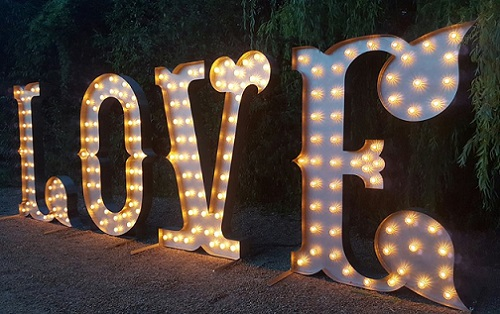 Letter Lights Kms Hire Weddings Birthdays Events Indian